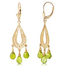 gold chandelier earrings 14k solid gold chandeliers earring with peridots