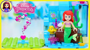 diy tiny diorama lego disney princess ariel little mermaid display