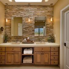 Best Kitchen Backsplashes Images On Pinterest Home Kitchen - Layered stone backsplash