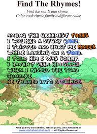 thanksgiving rhyme children rhymes find u0027n color the rhyming words