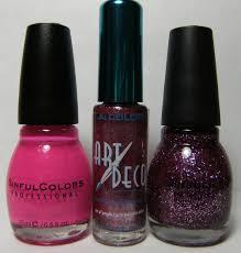 deez nailz sinful colors cream pink i missyou and metallic