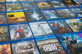 blu ray discs movies in market editorial stock photo image 66577398
