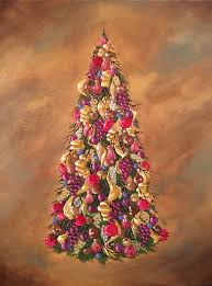 christmas tree 2 original acrylic painting on canvas by jkcarter