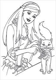 kids u0027 printable barbie coloring pages free p2s2s