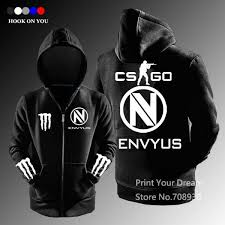 free shipping csgo gaming team envyus team zipper hoodies