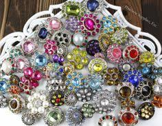 hairbow supplies iridescent rhinestone buttons 21 to 25 mm hairbow supplies etc