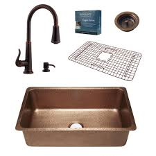 bronze faucets for kitchen sinkology pfister all in one david 31 1 4 in undermount copper