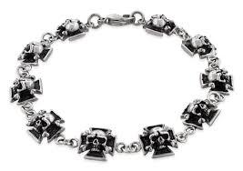 bracelet ladies images Stainless steel iron cross skull link bracelet jpg