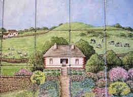 irish english country cottage village wall tile murals by julia
