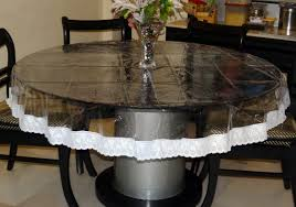 dining table cover clear easy dining table plan also round clear plastic table covers