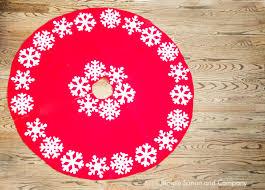 no sew christmas tree skirt tutorial simple simon and company