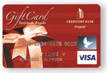 bank gift cards visa gift card credicorp bank