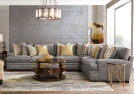 Sectional Sofas Rooms To Go by Cindy Crawford Home Palm Springs Gray 4 Pc Sectional Living Room