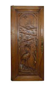 carved wood cabinet doors french antique carved wood cabinet door fishing heron bird wall