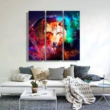 wolf home decor oil painting canvas abstract wolf wall art decoration home decor