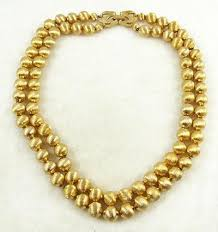 gold plated bead necklace images Monet gold beads necklace garden party collection vintage jewelry jpg