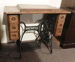 Antique Singer Sewing Machine Table Singer Treadle Cabinet Sewing Pre 1930 Ebay