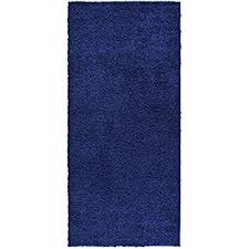 Navy Blue Runner Rug Rugstylesonline Shaggy Collection Shag Area Rugs 3 3