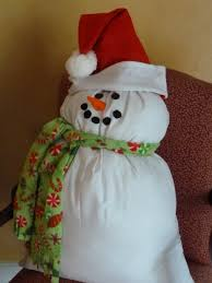 this pillowcase snowman is a great decor item or you could use it