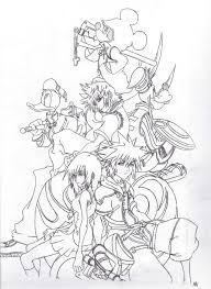 kingdom hearts coloring page free printable kingdom hearts