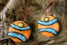 paper mache earrings handpainted paper mache craft earrings online india l itokri