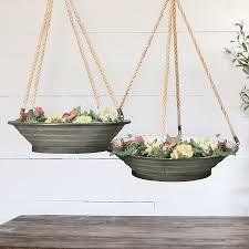 hanging planters hanging metal planters farmhouse planters