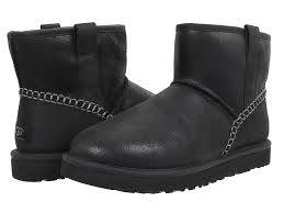 skechers shoes boots ugg australia cheap boots ugg ugg ugg mini stitch black leather s pull on boots