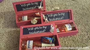asking to be bridesmaid ideas diy bridesmaids boxes a on a budget