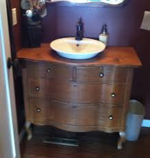 What Are Bathroom Sinks Made Of Dressers Made Into Bathroom Vanity Old Dresser Into Bath Vanity