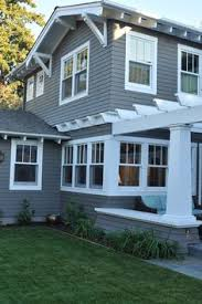 dark grey exterior paint with white trim kendall charcoal bm