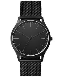 mesh bracelet watches images Skagen men 39 s jorn black stainless steel mesh bracelet watch 41mm tif