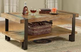 iron and wood side table metal and wood coffee table shelf sophisticated metal and wood