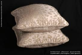kravet couture leopard mohair and silk elegant corded pillows