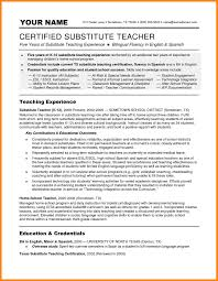Substitute Teaching On Resume 10 Resume For Substitute Teachers Offecial Letter