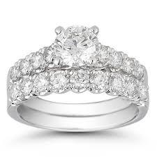 wedding set brilliant 2 10 ctw vs2 clarity i color diamond platinum