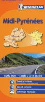 France Region Map by Michelin Map France Midi Pyrenees Mh525 Maps Regional Michelin