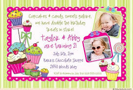sweet treats twice the fun invitation double sibling candy