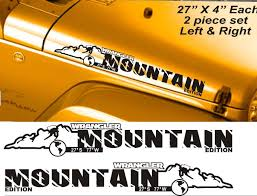 jeep wrangler logo decal product pair jeep wrangler mountain edition vinyl hood decals jk