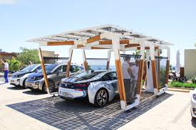 bmw designworks solar carport and bmw i wallbox pro bmw carport 01 750x500
