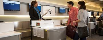 United Bag Check Fee Premium Transcontinental Service United Airlines