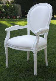 cielo blanco louis arm chair town u0026 country event rentals