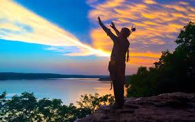native american indian river water sunlight u2014 bossfight