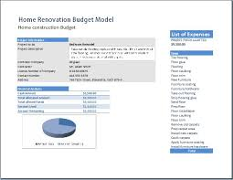 renovations budget template home renovation model template word excel templates