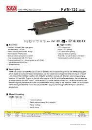 Led Strip Light Power Consumption by Meanwell 100 120w 12v 24vdc 36v 48v Constant Voltage Dimmable Led