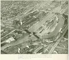 Chicago River Map by St Charles Air Line Bridge 18th Street Railroad Bridge