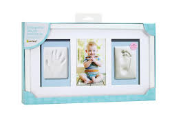 pearhead side photo album pearhead white babyprints handprint and footprint deluxe wall