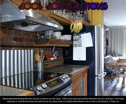 Metal Roofing NSW Decorator Ideas DIY Corrugated Iron Stove - Corrugated metal backsplash