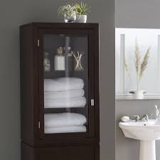 bathrooms design espresso wood linen tower bathroom storage