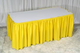 Cloth Table Skirts by Yellow Polyester Cloth Table Skirt Buy Cloth Table Skirt Ruffled