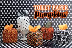the craft patch diy fall decor toilet paper pumpkins